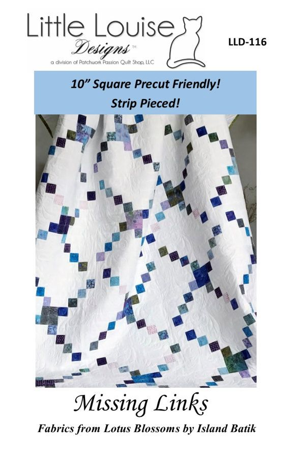 Layer Cake Quilt Pattern  Missing Links by LittleLouiseQuilts