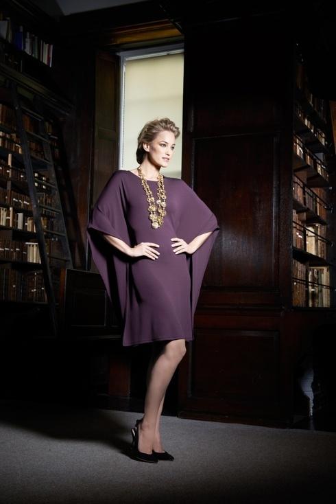 Louise Kennedy Kiki Burgundy Dress