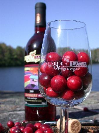 Muskoka Lakes Winery - Cranberry Wine. It is amazing.
