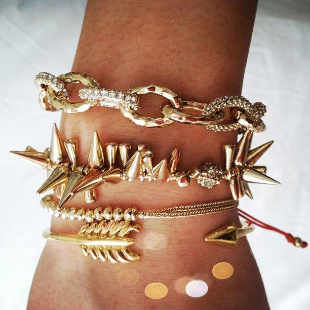 Love this Stella & Dot arm party! Christina Link, Renegade Cluster, Love, Gilded Arrow. www.stelladot.co.uk/gillcarruthers