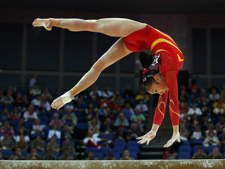 huang qiushuang of china competes in the balance beam during the womenu0027s gymnastics in the
