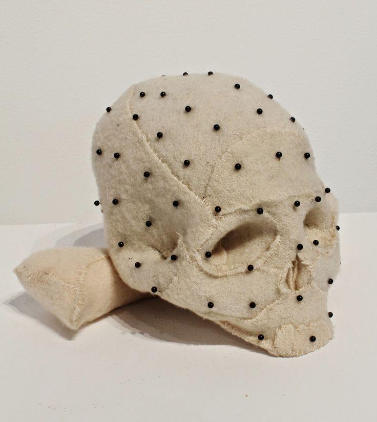 Specimen # 33.Skull .soft tissue anatomy sculpture by Andrew Delaney .Anno Domini Home . The Vivisector . Pic by Vikki Kassioras