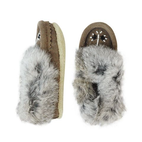 Fur Slip on Moccasins - mini mioche - organic infant clothing and kids clothes - made in Canada