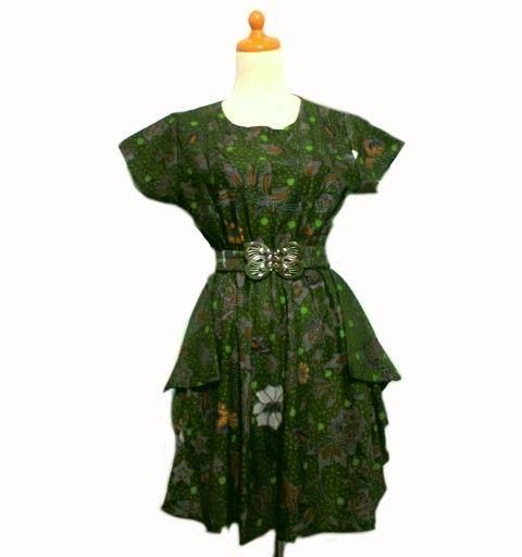 Dress batik db069 baju batik wanita modern pinterest
