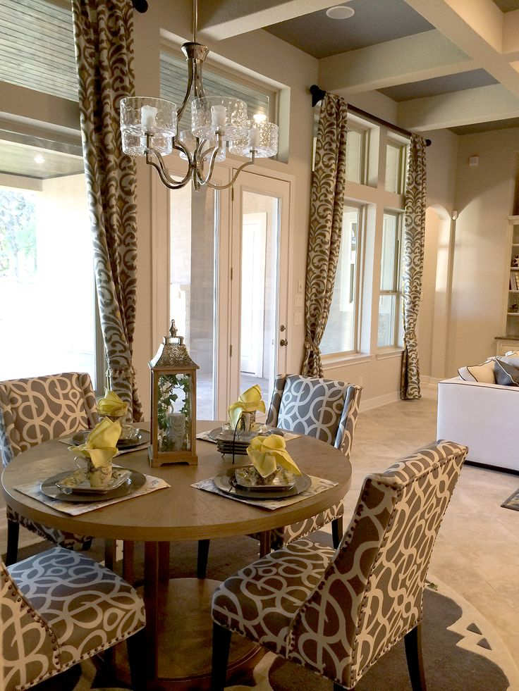 Use A Rug And Chandelier To Create A Dining Area In A Great Room Area. High  ContrastInterior Design ...
