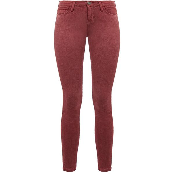 Current Elliott The Stiletto Mulberry Skinny Jeans (3.285 CZK) ❤ liked on Polyvore featuring jeans, burgundy, current elliott skinny jeans, burgundy jeans, red skinny jeans, skinny leg jeans and skinny jeans