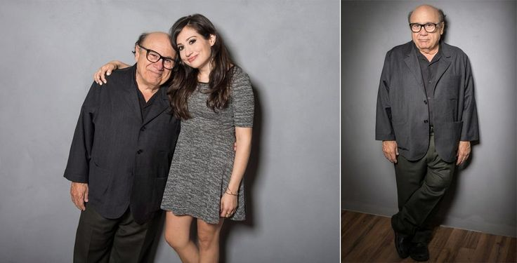 "Actor and Director Danny DeVito & daughter, actress Lucy DeVito from ""Curmudgeons"" photographed at 139 Fulton Street Studio in New York City."