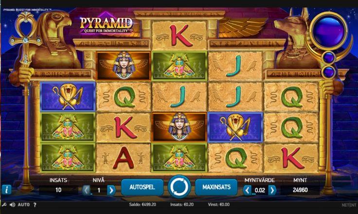 Pyramid Quest for immortality - Letar du efter ett recept på framgång? Ta en nypa av antikens Egypten med pyramiderna och faraonerna, tillsätt en skvätt wilds och blanda allt med 720 sätt att vinna. Pyramid: Quest for Immortality har allt!