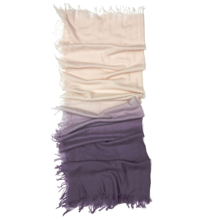 These cashmere scarves are created by two sisters whose showroom is located just down the street from our 57th Street headquarters. Crafted using only the finest yarns, each one is light, soft and as luxurious as you'd expect. The unique dip-dye treatment lends a feel that's both beachy and urban, all at once.
