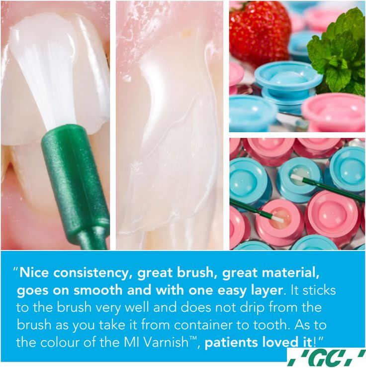 GC introduces #MIVarnish™, the first fluoride varnish with #RECALDENT™ (CPP-ACP)  MI Varnish™ is conveniently delivered in a purpose-designed unit dose containing a generous application of varnish.  Smooth, translucent and tasty Once applied, MI Varnish™ has a beautiful smooth consistency and a neutral shade with natural translucency.