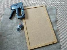 diy burlap corkboard, crafts, wall decor, supplies framed corkboard burlap stapler and upholstery tacks