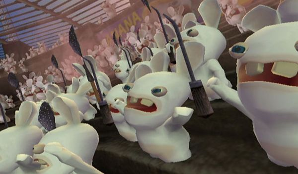 Rayman Raving Rabbids hitting Wii U eShop tomorrow in North America   Hub page here  Bunnies gone Bad!  Hordes of crazed out-of control bunnies have invaded enslaving Rayman and forcing him to participate in 'gladiator' style trials. Help Rayman win his freedom back by entertaining and outwitting these furry foes. Use the most hilarious fighting moves imaginable. Run races on animals fight in the arena or mesmerize the bunnies with your dance moves. You can even milk pigs or engage in…