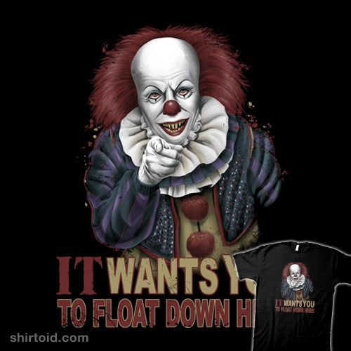 Float Down Here #clown #film #horror #it #movie #pennywise #saqman #unclesam