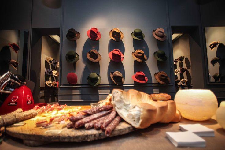 Borsalino details food and interiors