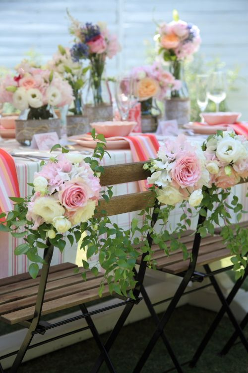Lovely idea for chairs at the reception