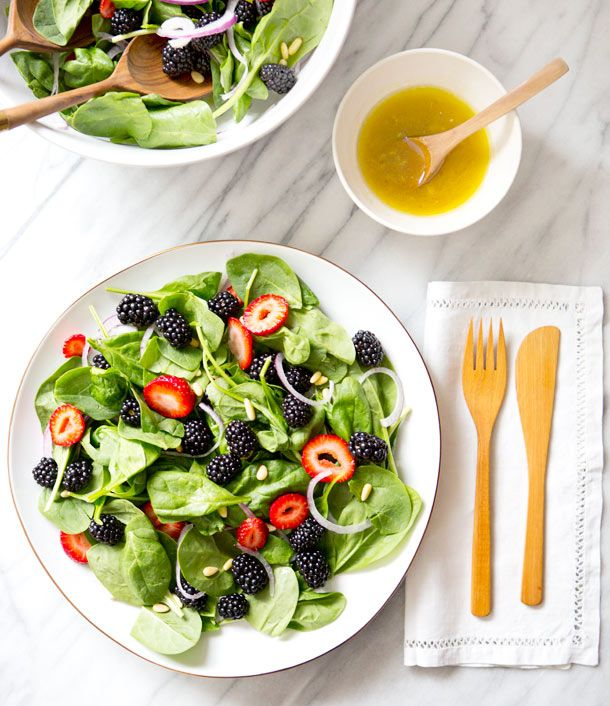 Spinach Blackberry Salad recipe | A House in the Hills for Camille Styles