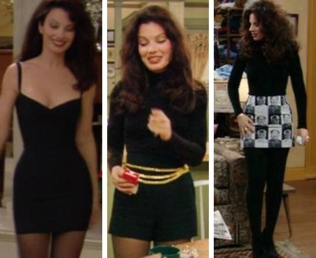 fran drescher the nanny look - that black dress Herve Leger