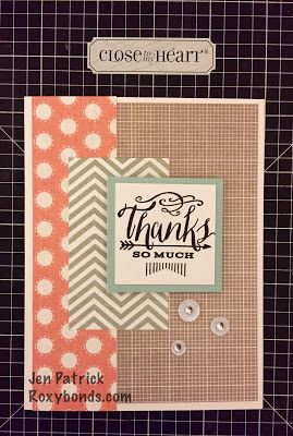 Roxybonds Close To My Heart CTMH consultant : Stampers With An Attitude Blog Hop- Zoe
