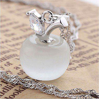 Modieuze ketting sterling zilver versierd met kristallen hangertje