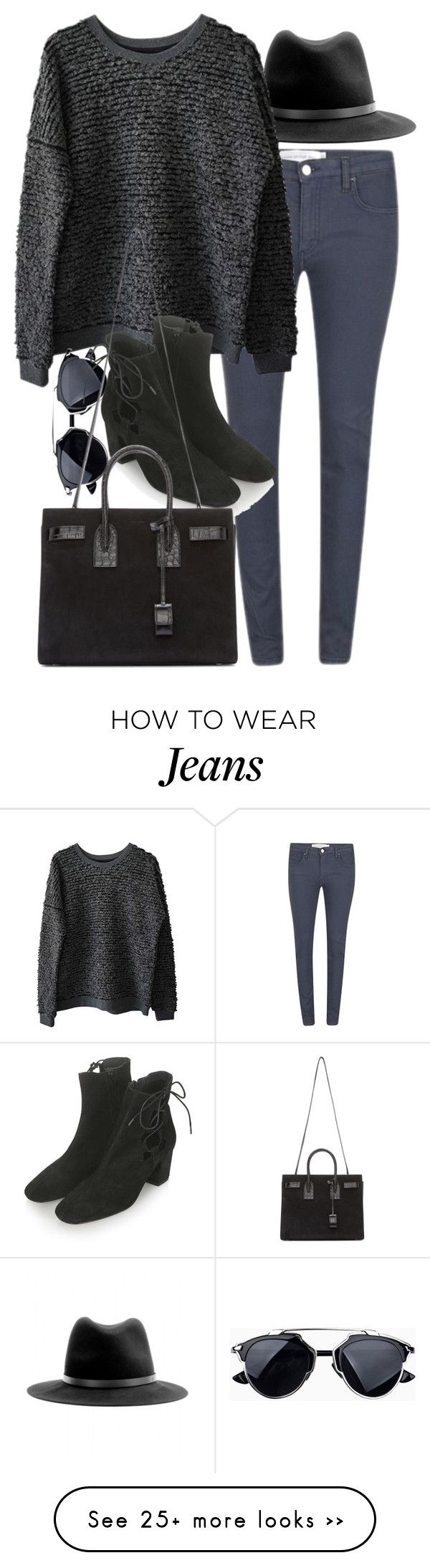 """Untitled #7197"" by nikka-phillips on Polyvore featuring rag & bone, Victoria Beckham, Just Female, Topshop and Yves Saint Laurent"