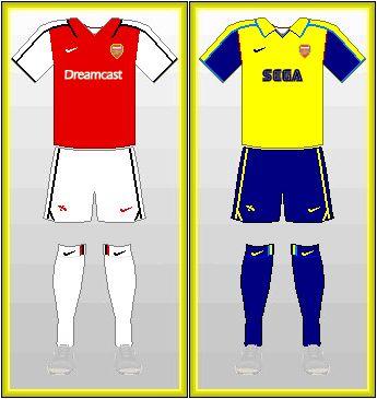 Arsenal FC SEGA Dreamcast 1999-2002