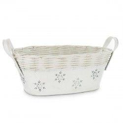Holiday Gift Tin with Snowflakes - White http://www.englishteastore.com/empty-holiday-gift-basket-snowflake-tin-white.html
