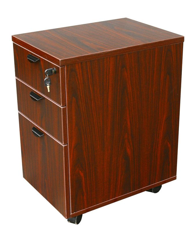 Boss Office Products N148H-M Boss Mobile Pedestal Box/Box/File,Honey Comb Packing, Mahogany