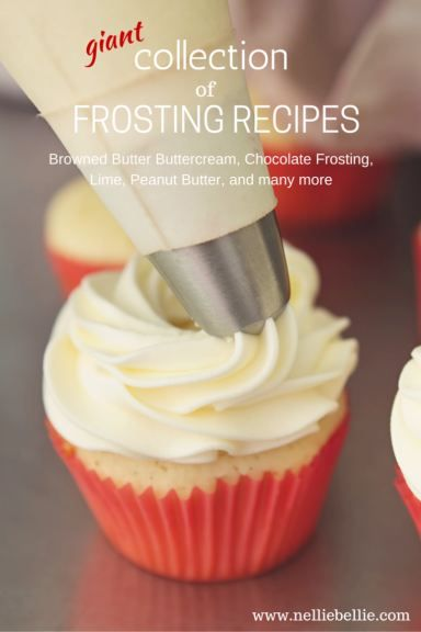 Basic frosting recipes for all sorts of delicious desserts.