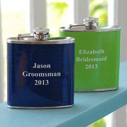 Custom Color Flasks: Custom Color, Colored Flasks, Groomsmen Gifts, Wedding Ideas, Colors, Weddings, Bachelor Party, Groomsmen Flasks, Color Flasks