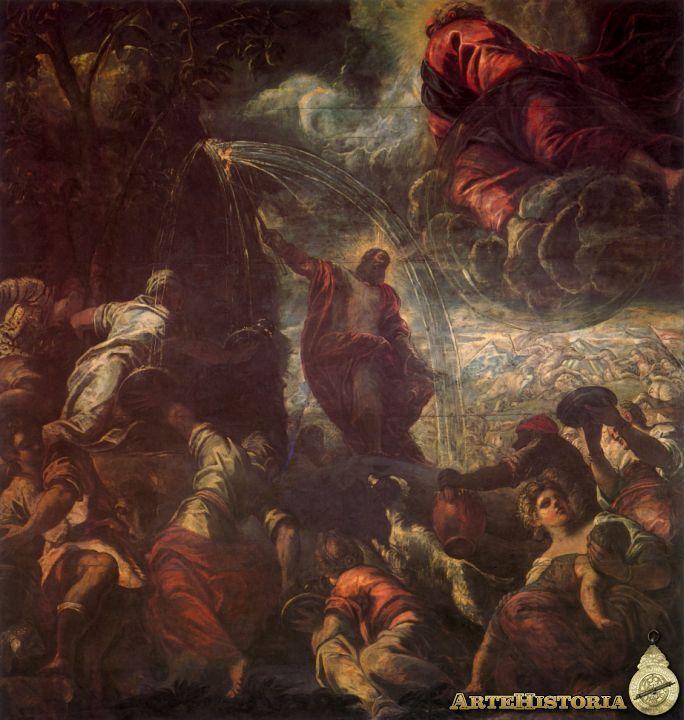 Tintoretto, Moises haciendo brotar el agua de la roca, Scuola de San Rocco, Venecia