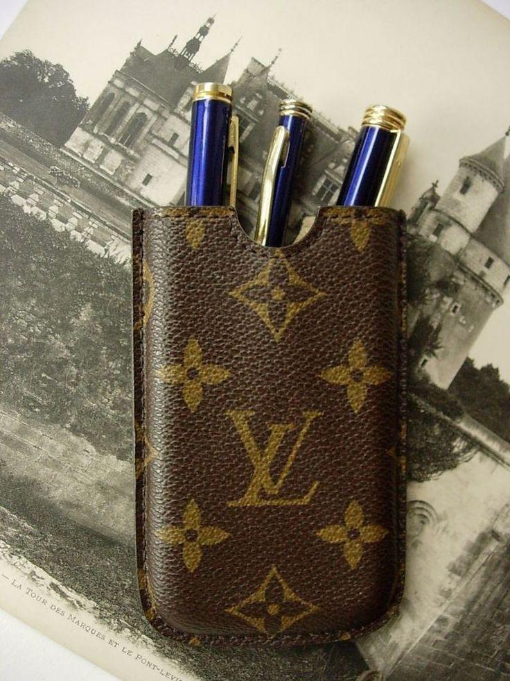 Authentic LOUIS VUITTON Etui Cell Phone Pen Card Case Unisex Accessory LV Sharp #LOUISVUITTON