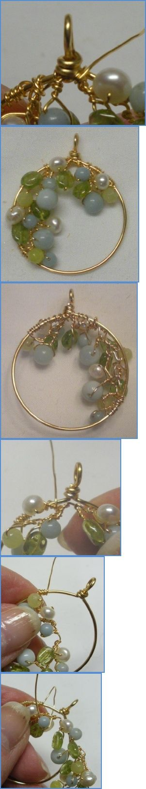 Spring Garland Wire Wrapped Earrings Tutorial