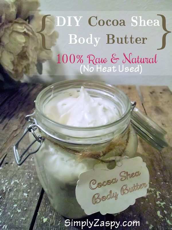 DIY Body Butter   Homemade Body Butter   Raw & Natural