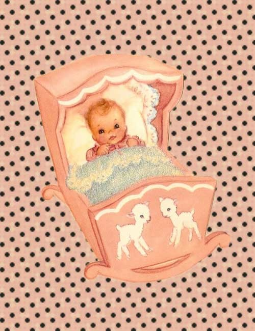 Juffie's ansichtkaart - (Juffie's Warehouse) -  My ex-husband made a pink doll crib similar to this one for our Monica (she's now 27! Lol!)