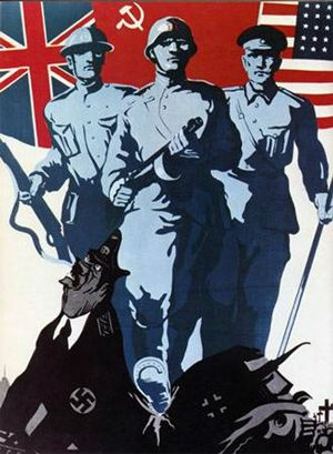 Loss in WWII lead to the thinking that the Russian government was not so great and then to the Russian Revolution.