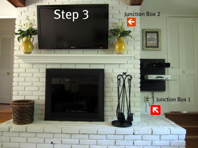 How To Mount a TV on a Brick Fireplace - On Sutton Place