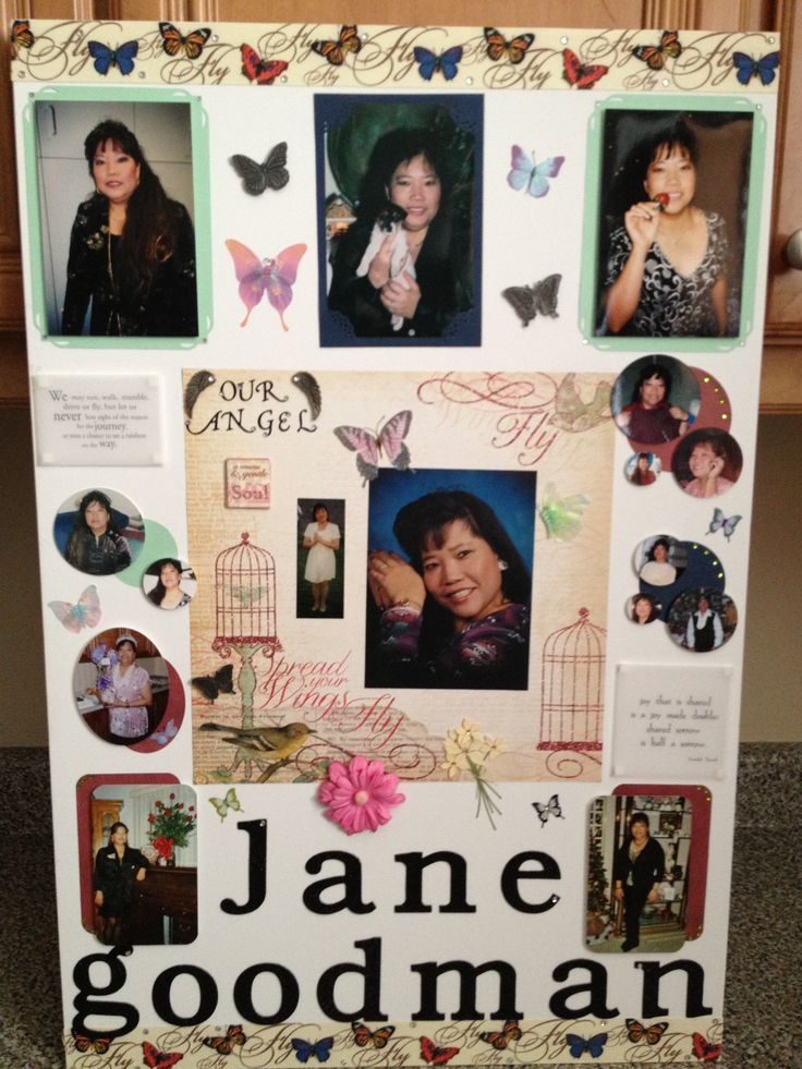 Poster Board Ideas For Funerals : Best scrapbook poster board memorial images on