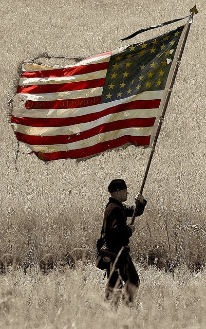 Photo taken by Christopher Leon at the reenactment of the battle of Chancellorsville during the American Civil War in 2008.