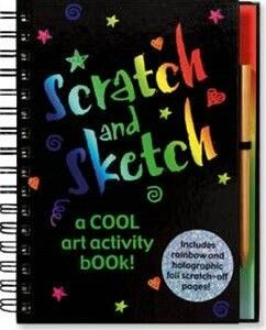 Kids Toys to You | Scratch and Sketch Spiral Book - TOYS FOR TRAVEL Scratch the black coating away and watch glittering holographic scenes appear! Boys and Girls love these books.  $25 www.kidstoystoyou.com.au