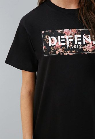 Defend Paris Box Flower Tee | Forever 21 - 2000155148