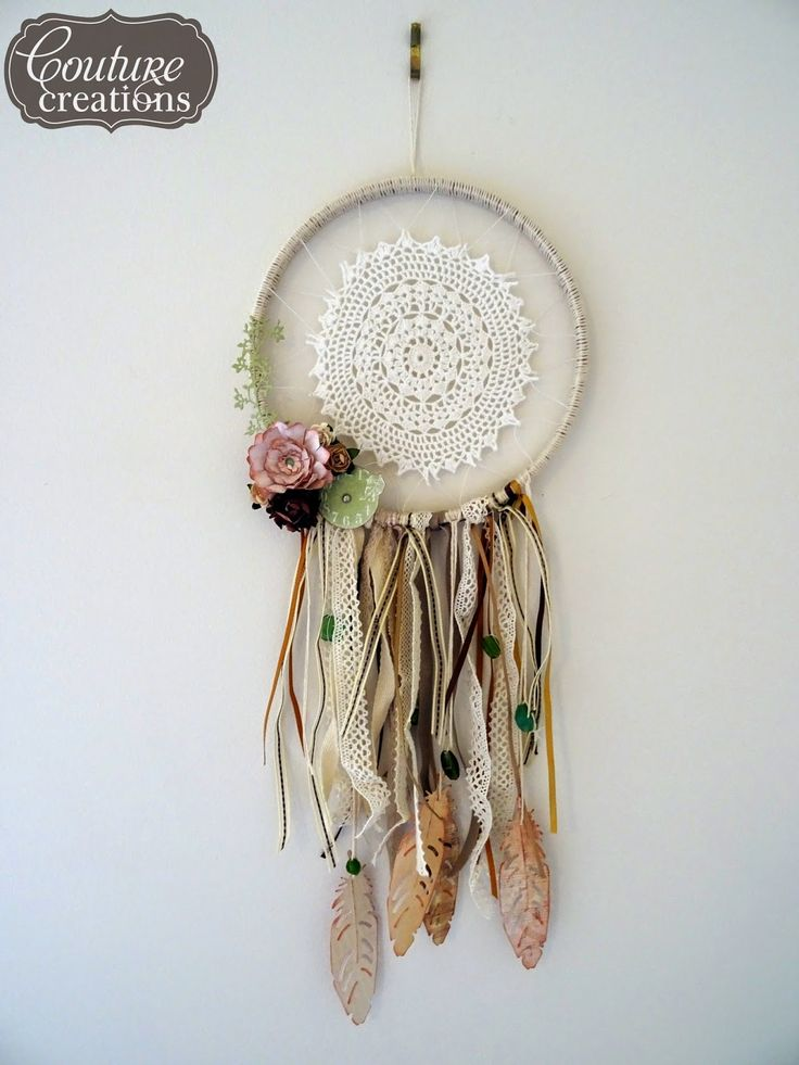 how to make dream catchers using doilies