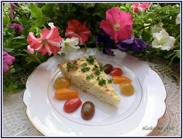 Lecker mit Geri: Herzhafter Zucchini-Käse-Kuchen - Солен кейк с тиквички и сирене