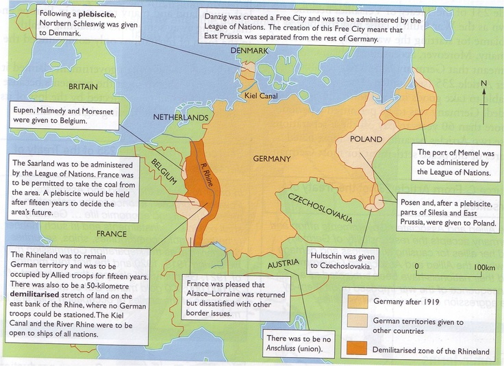 Best Treaty Of Versailles Images On Pinterest Treaty Of - Germany map after the versailles treaty