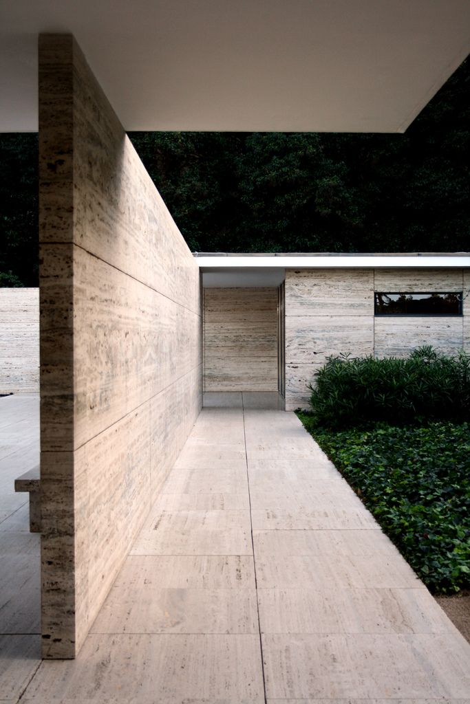 Mies | Barcelona | paviljoen | icon in the architecture , nice materials, concept , atmosphere , design and art. | Natural stone -