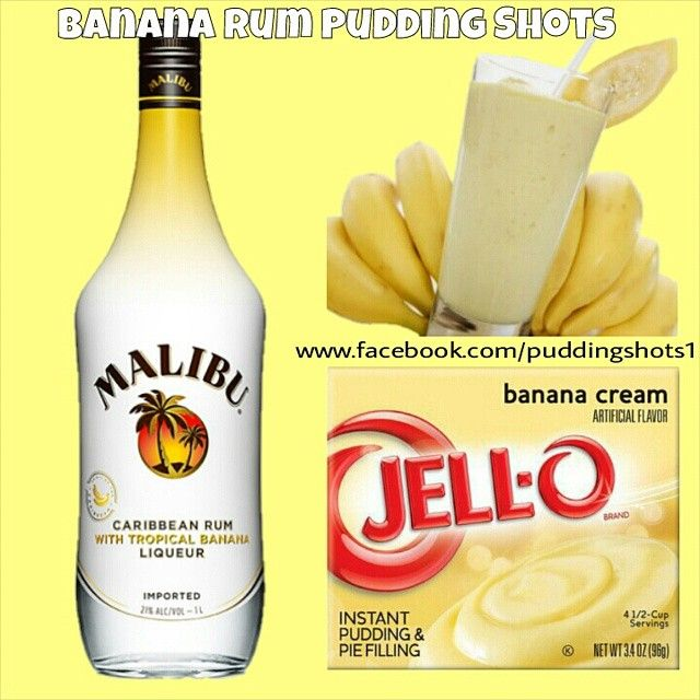 Banana Rum Pudding Shots.  See full recipe and more on…