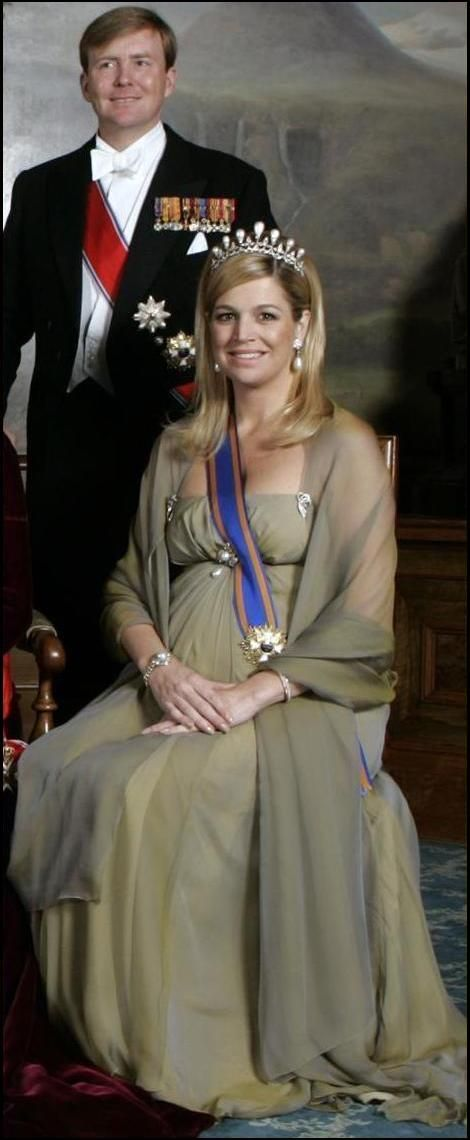 King Willhem-Alexader and Queen Maxima of the Netherlands, following the abdication of the throne by Queen Beatrix.
