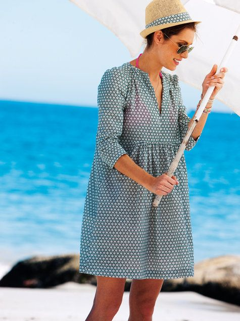 """I love this dress, had on just like it in flax. Going to need 2 for next summer - 1) for the beach and 2) my """"throw on"""" (a little longer though)"""