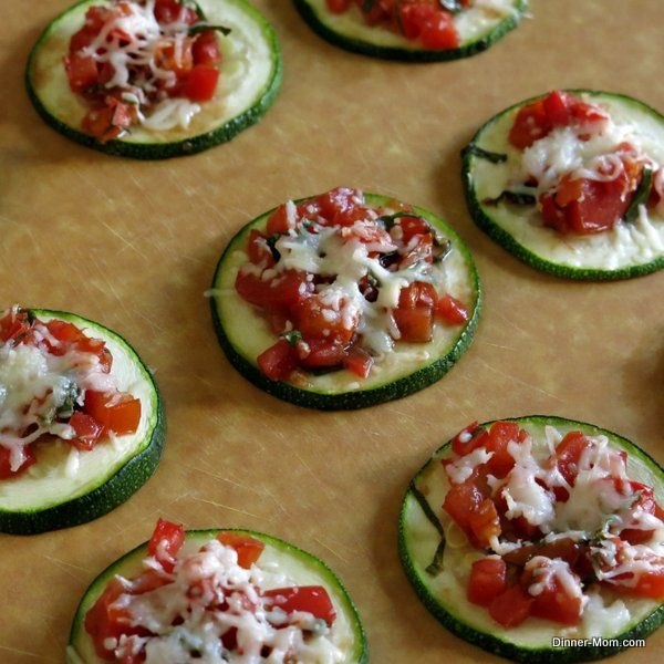 Zucchini Bruschetta - Easy snack or appetizer! #lowcarb #glutenfree