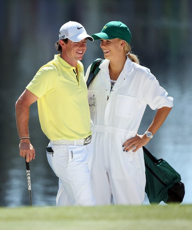 Rory Mcilroy and his girlfriend Caroline Wozniacki