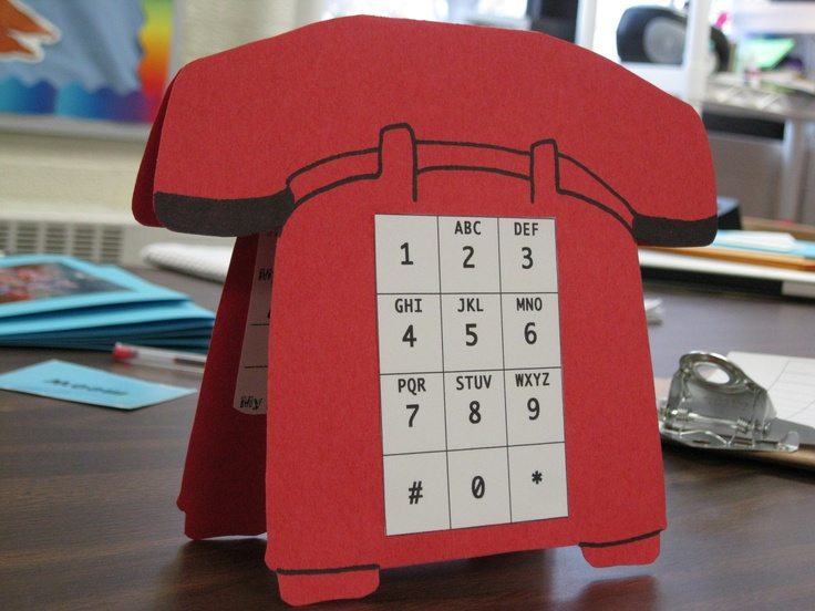 """Great idea for kindergarten and first graders! Students can practice pressing """"9-1-1"""" on a phone. Student's name, address, and phone number is on the inside of the card."""